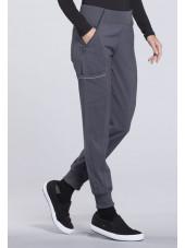 "Pantalon médical femme Cherokee, collection ""Infinity"" (CK110A) gris gauche"