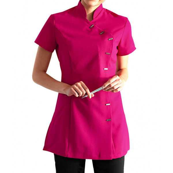"""Blouse médicale femme """"Fleur"""", Clinic dress rose"""