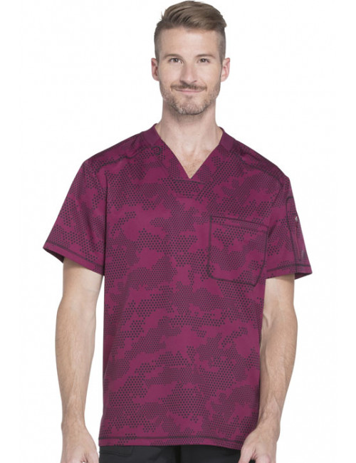"Men's Printed Medical Blouse, ""Dynamix"" Collection (DK611)"