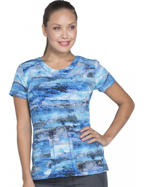 """Women's Printed Medical Blouse, Dickies, """"Dynamix"""" Collection (DK723)"""