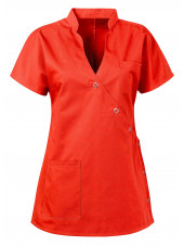 "Blouse médicale femme ""Laura"", Clinic dress orange face"