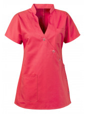"Blouse médicale femme ""Laura"", Clinic dress rose face"