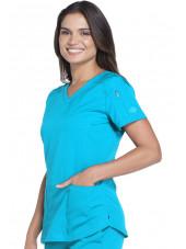 """Tunique Médicale femme Dickies, Collection """"Dynamix"""" (DK730) turquoise droite"""