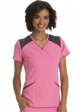 Tunique médicale femme bicolore, HeartSoul (HS650)
