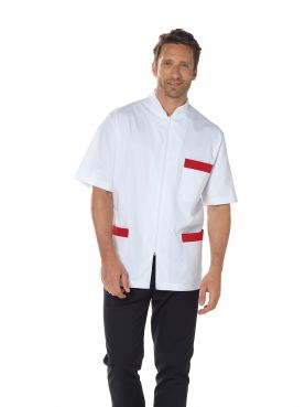 "Blouse médicale, bicolore homme zippée, CMT collection ""Stretch bicolore"" (047)"