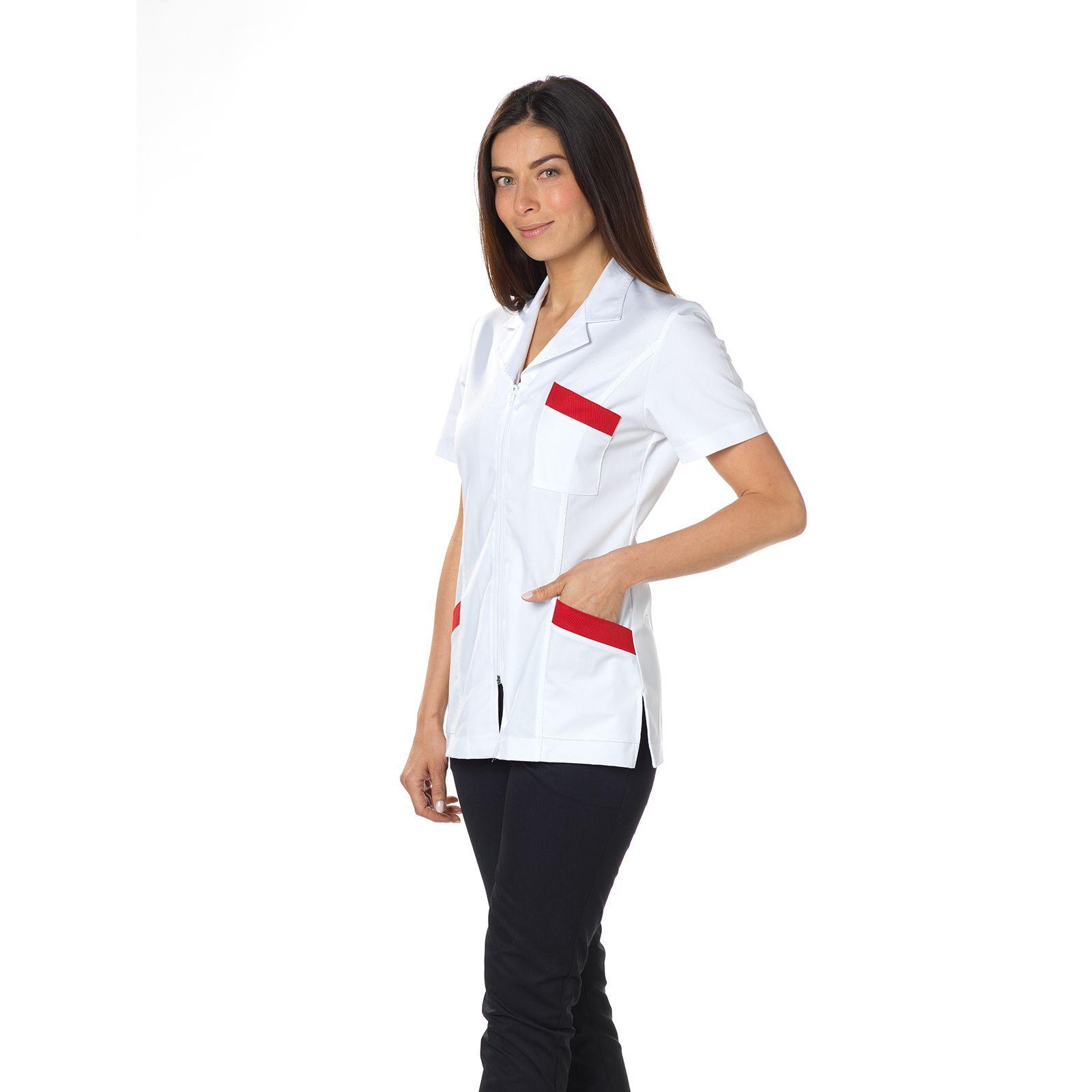"""Blouse médicale, col tailleur, CMT, Collection """"Stretch bicolore"""" (2613)"""