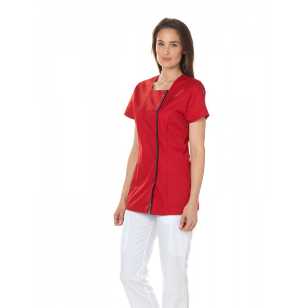 "Blouse médicale pression, femme, CMT collection ""Stretch"" (2605)"