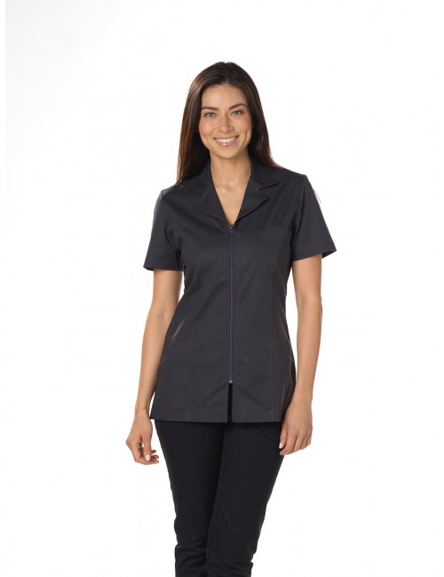 "Blouse médicale Stretch, col tailleur, CMT, Collection ""Stretch uni"" (2613)"