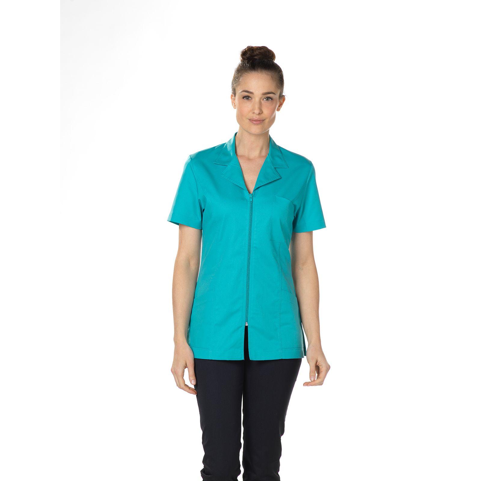 """Blouse médicale, col tailleur, CMT, Collection """"Stretch uni"""" (2613)"""