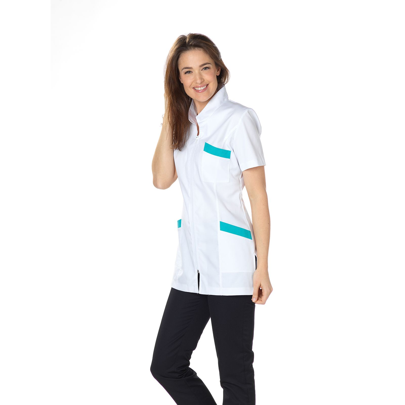 """Blouse médicale, col tailleur, CMT, Collection """"Stretch"""" (2613)"""