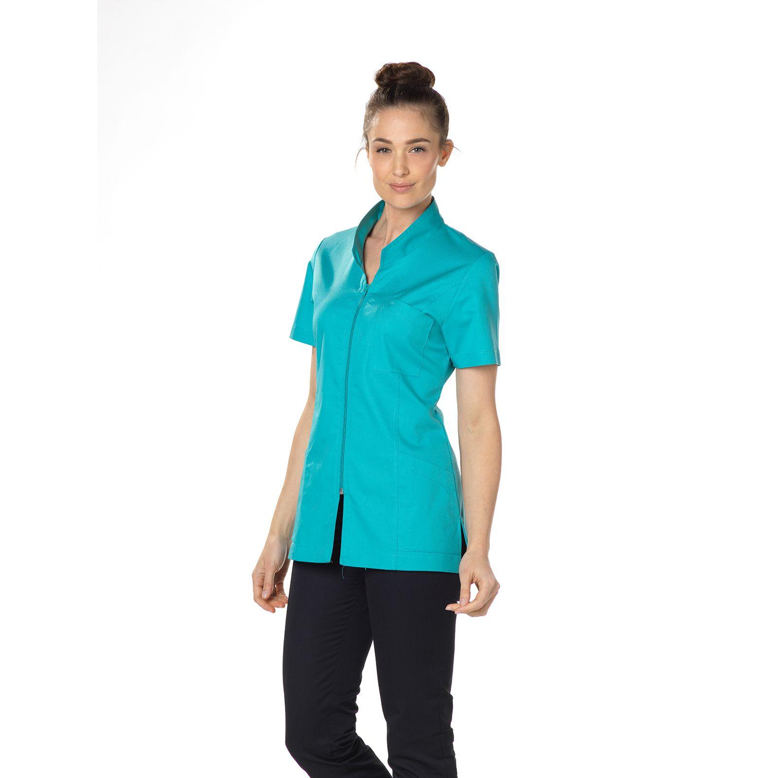 """Blouse médicale, col mao, courte, CMT, Collection """"Stretch uni"""" (2612)"""