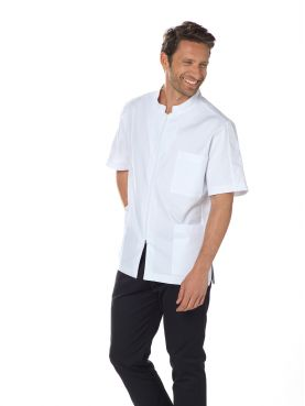 "Blouse médicale Stretch homme, fermeture éclair, CMT collection ""Stretch uni"" (2622)"