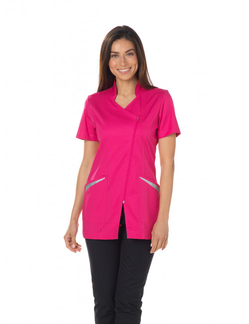 "Blouse médicale Stretch, col officier, CMT, Collection ""Stretch uni"" (2619)"
