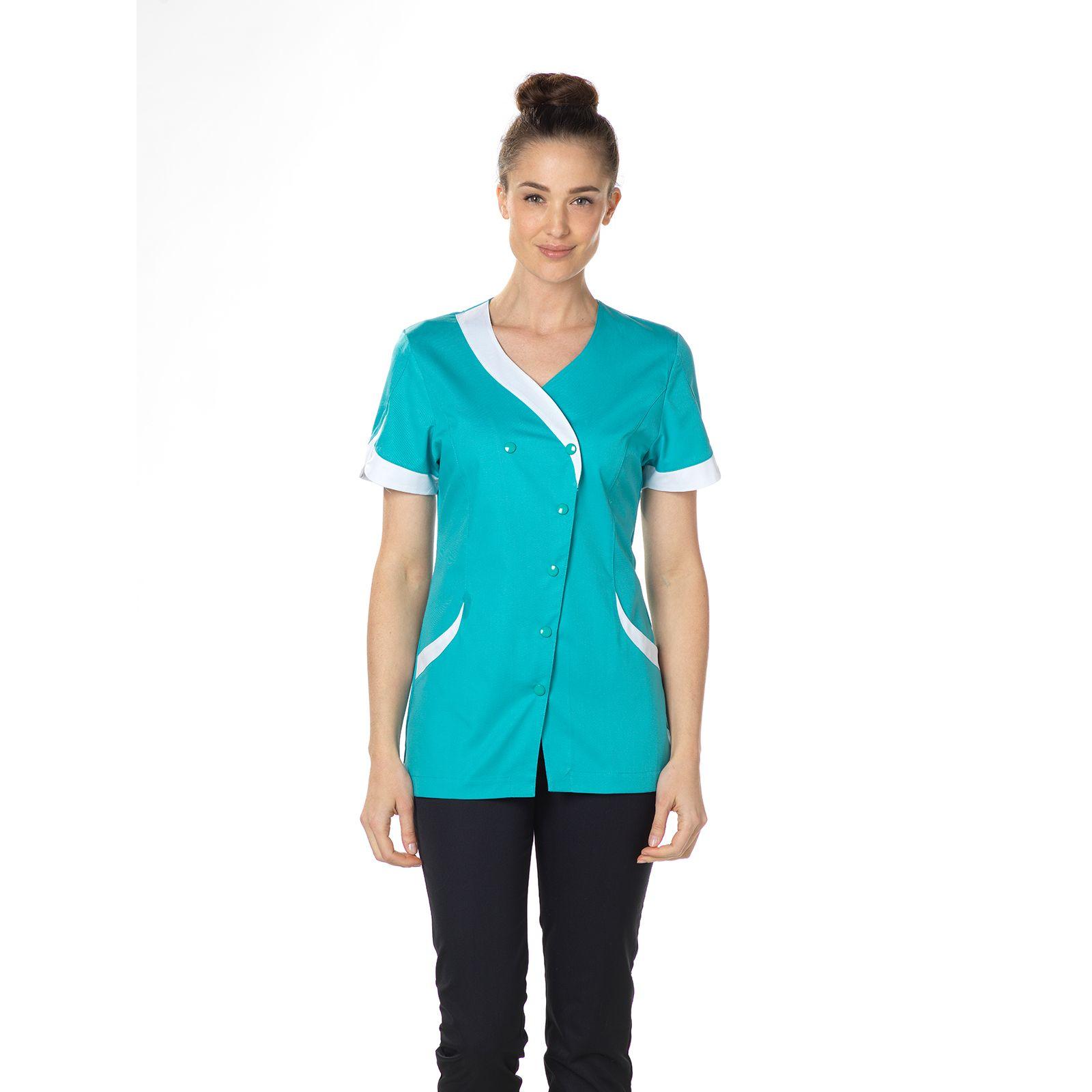 """Blouse médicale, pression, CMT, Collection """"Stretch bicolore"""" (2618)"""