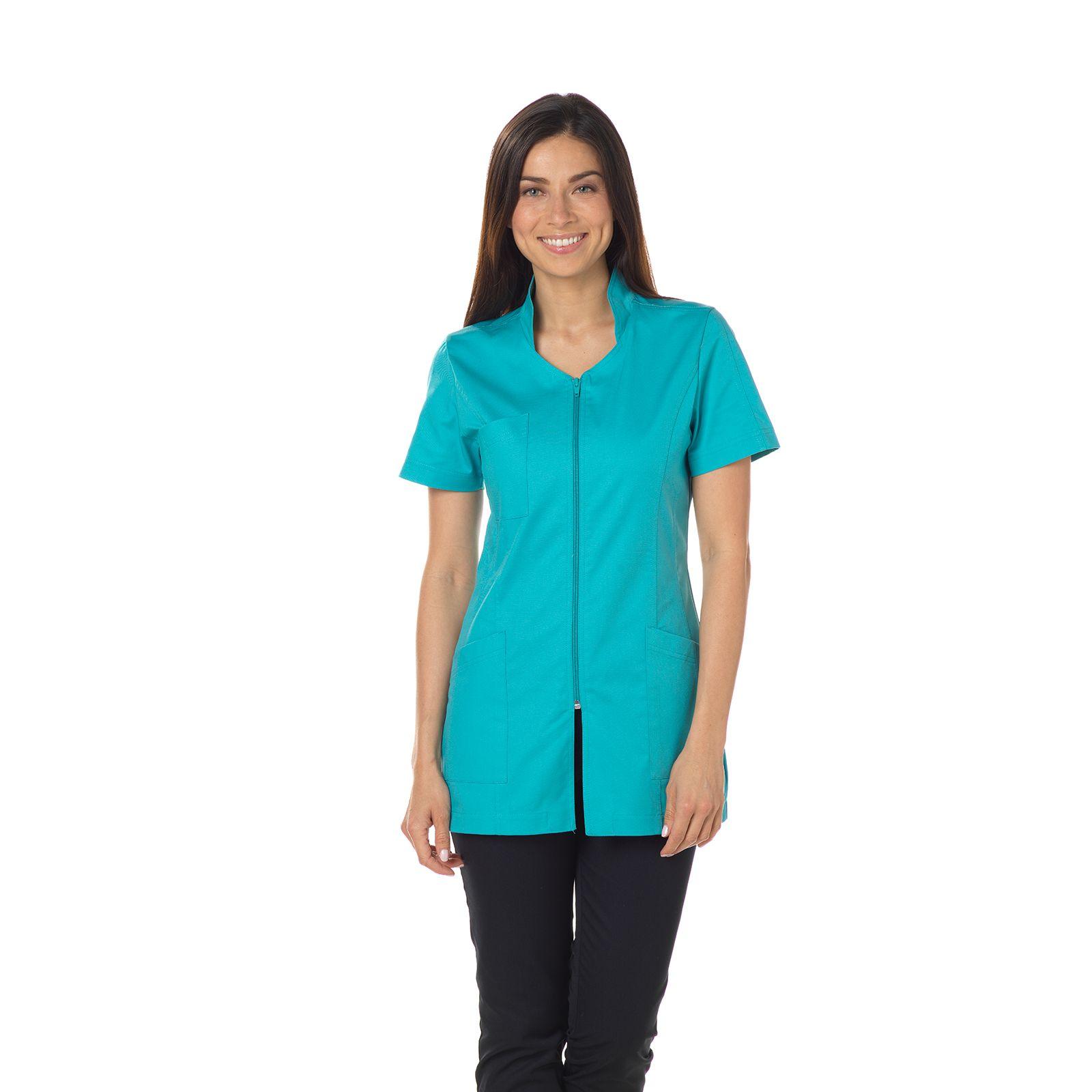 """Blouse médicale, col stylisé, CMT, Collection """"Stretch uni"""" (2617)"""