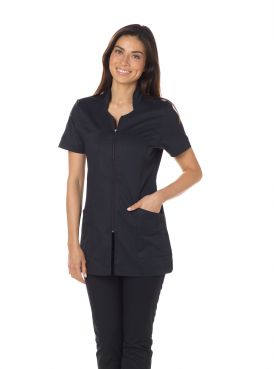 "Blouse médicale Stretch, col stylisé, CMT, Collection ""Stretch uni"" (2617)"