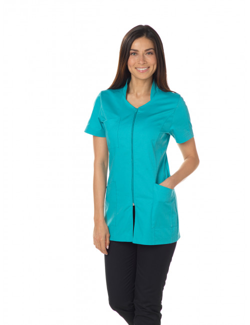 "Blouse médicale, col stylisé, CMT, Collection ""éco-responsable"" (2617)"