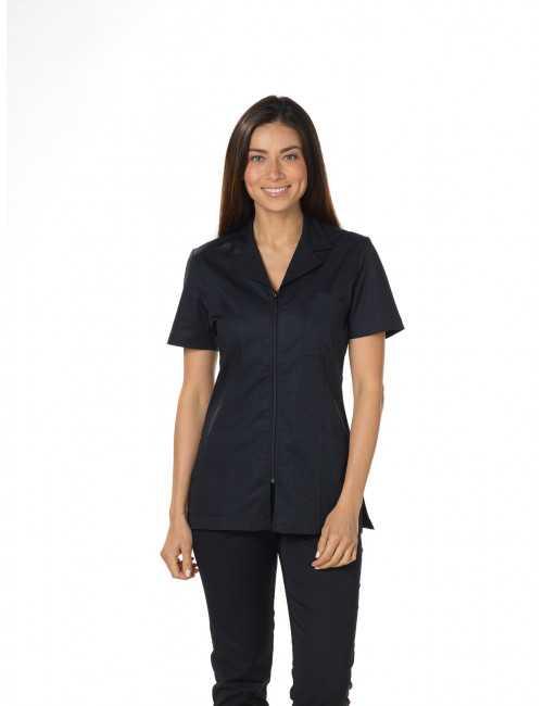 Women's tailored zip front top Mankaïa