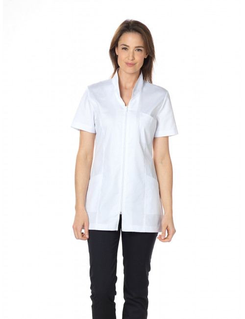 "Blouse médicale, col mao longue, CMT, Collection ""Eco-responsable"" (2611)"