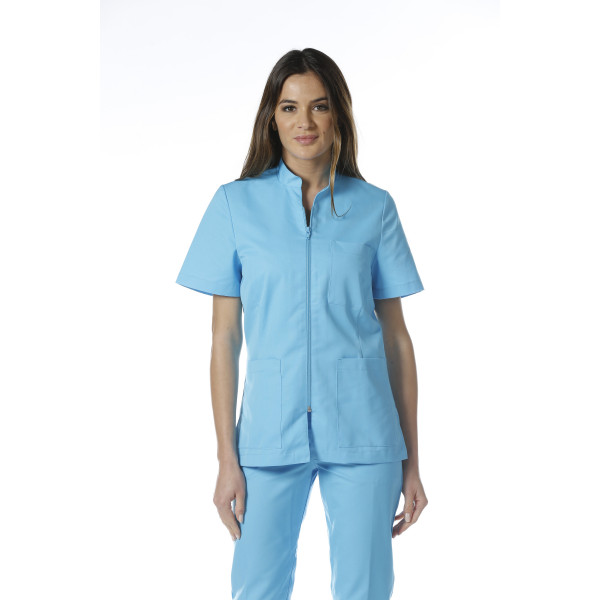 "Blouse médicale, col mao, courte, CMT, Collection ""Eco-responsable"" (2612)"
