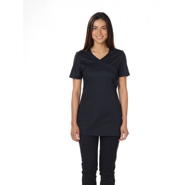 "Blouse médicale, cache coeur, CMT, Collection ""Stretch uni"" (2614)"