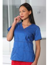 """Blouse médicale Femme Dickies, collection """"GenFlex"""" (817355) bleu royal coté"""