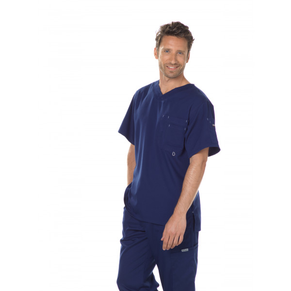 "Col V homme, couleur bleu marine vue de face, Collection ""Grey's Anatomy"" (0107-)"