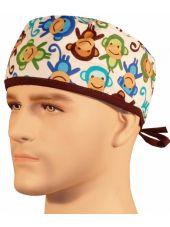 """Calot médical """"Singes"""" (210-8604-BR) homme"""
