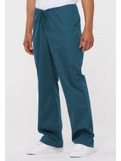 "Pantalon médical Unisexe Cordon, Dickies, Collection ""EDS signature"" (83006) vert caraïbe vue gauche"