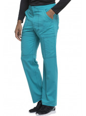 "Pantalon médical homme Dickies, collection ""Dynamix"" (DK110) teal blue droite"