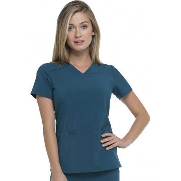 """Blouse Médicale femme, Dickies, """"EDS Essentials"""" (DK615) vert caraïbe face"""