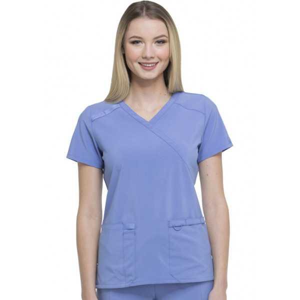 """Blouse Médicale femme, Dickies, """"EDS Essentials"""" (DK625) bleu ciel face"""