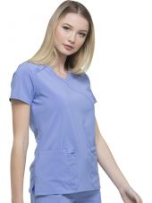 """Blouse Médicale femme, Dickies, """"EDS Essentials"""" (DK625) bleu ciel coté"""