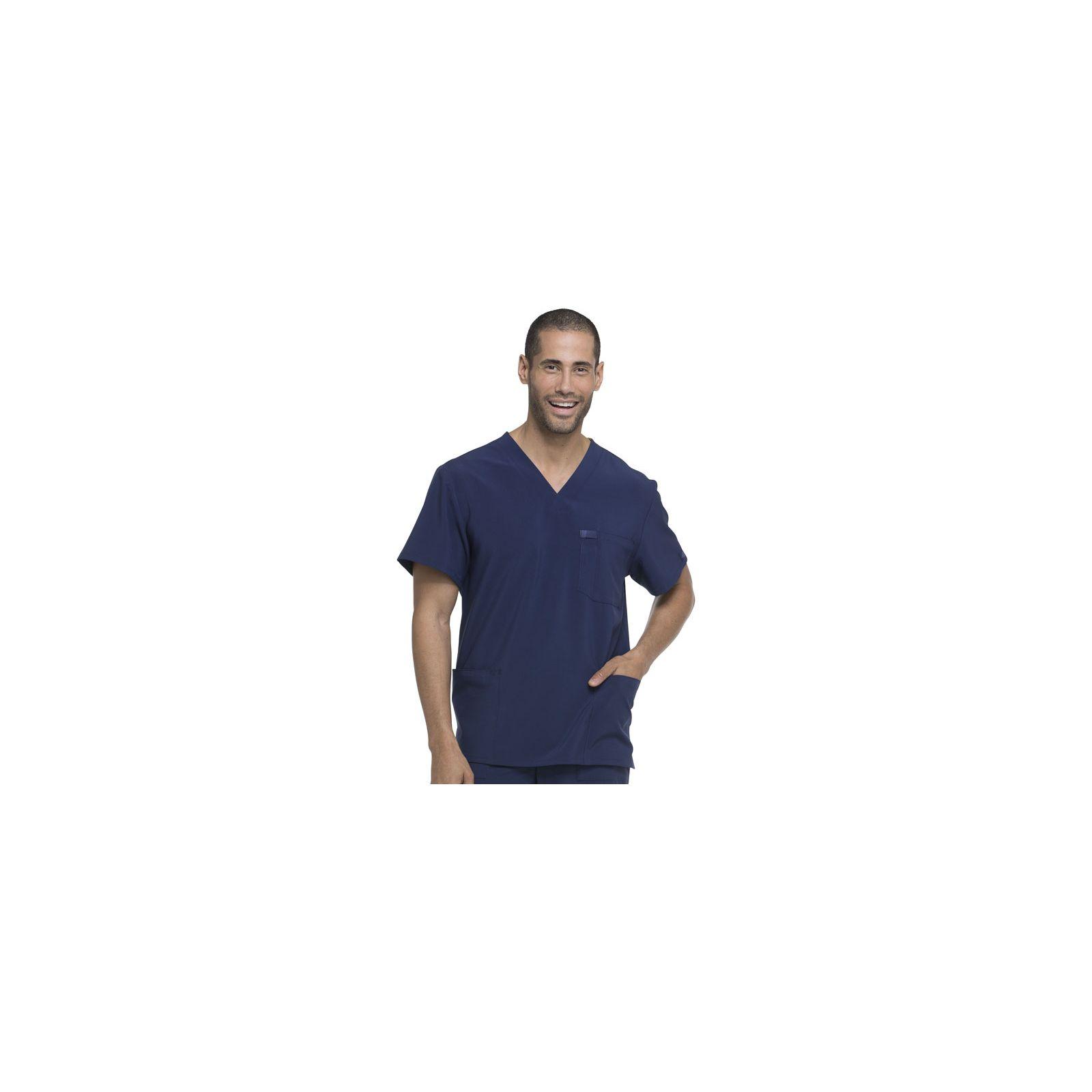 "Blouse Médicale Homme, Dickies, ""EDS Essentials"" (DK645) bleu marine face"