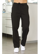 Pantalon médical cordon Unisexe, Cherokee Workwear Originals (4100) noir face