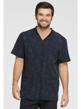 "Men's Medical Blouse Printed ""Labyrinth"", ""Dynamix"" Collection (DK607)"