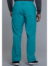 "Pantalon à bouton homme, Cherokee, Collection ""Infinity"" (CK200A) teal blue dos"