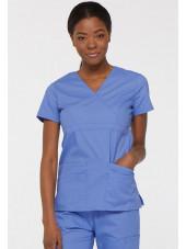 """Blouse médicale Cache Coeur Femme, Dickies, collection """"EDS signature"""" (85820), couleur bleu ciel vue face"""