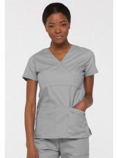 """Blouse médicale Cache Coeur Femme, Dickies, collection """"EDS signature"""" (85820), couleur gris clair vue face"""
