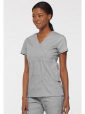 """Blouse médicale Cache Coeur Femme, Dickies, collection """"EDS signature"""" (85820), couleur gris clair vue gauche"""