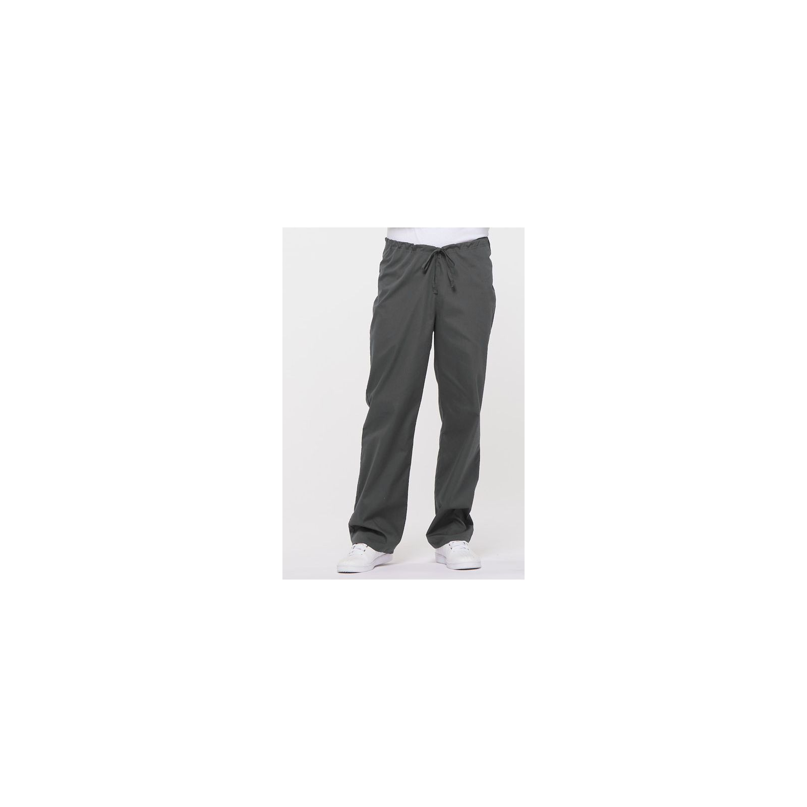 "Pantalon médical Unisexe Cordon, Dickies, Collection ""EDS signature"" (83006) gris anthracite vue face"