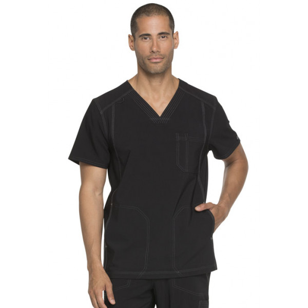 "Blouse médicale Homme, collection ""Dickies Advance"" (DK750) face noir"